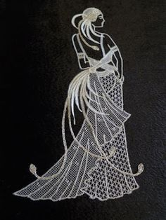 Honiton Lace by Elizabeth Trebble Lace Embroidery, Embroidery Patterns, Arte Linear, Parchment Design, Bobbin Lacemaking, Parchment Cards, Lace Art, Bobbin Lace Patterns, Point Lace