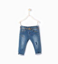 Denim dungarees-Jeans-Baby girl (3 months - 3 years)-KIDS | ZARA United States