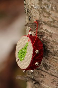 Rainbow of Stitches: ornament