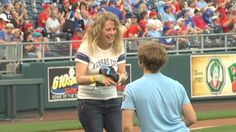 She donates kidney; he proposes:  A Kansas City-area man proposed to his girlfriend during a Royals baseball game this week, after she gave him one of her kidneys earlier this year, according to CNN affiliate KSHB.