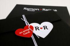Convite de casamento Ramon & Raíssa