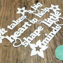 Big heart School Teacher Gift SLS Creative