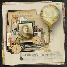 Portrait of the Past Scrapbook Layout by DSP member Mars
