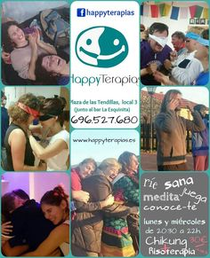 "https://www.facebook.com/happyterapias/posts/1041702665853163 Clases de ""CHIKUNG y RISOTERAPIA"" en Happy Terapias Lunes y miércoles a las 20:30 horas. _________________________ HAPPY TERAPIAS facebook.com/happyterapias Plaza de las Tendillas, 3, local 1B, Sevilla Tfno.: 658 438 581 www.happyterapias.es"