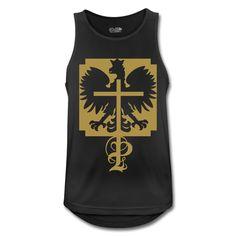 Polska Adler & P - Männer Tank Top atmungsaktiv #polska #polskashop #polskatanktop #poloniatanktop #polnischebekleidung #poloniastore #tanktop #sport #fitness #mypolonia