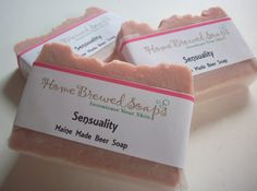 Great gift for Her! Cinnamon and Rose with the sweet and earthy undertones of Jasmine and Sandalwood make this a sensual and sexy bar of beer soap. Cleanse your skin with the pure organic  cinnamon powder and creamy shea butter with skin softening oils that will make you happy and awaken your romantic side. Topped off with some sparkle for her!