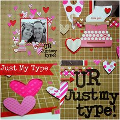 sweetheart scrapbook page layouts - Google Search