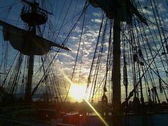 Sunset in Delaware Delaware, Sailing Ships, Utility Pole, Sunrise, Boat, World, Places, Wanderlust, Beautiful