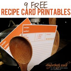 Jazz up your recipes with these fun recipe cards- 9 FREE Recipe Card Printables via How Does She