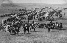 Old West wagon trains | 19 co. wagon train headed west