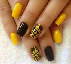 Plain with a twist... Love yellow nails