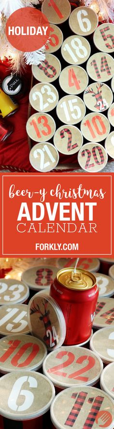 Beer-y Christmas Advent Calendar : Make the Holidays extra bright, with a homemade boozy advent calendar for adults. INCLUDES FREE PRINTABLE! Beer Advents for all!