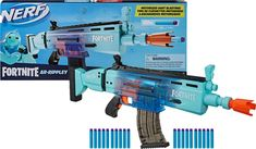 Shop Hasbro Nerf Fortnite AR-Rippley Motorized Elite Dart Blaster at Best Buy. Find low everyday prices and buy online for delivery or in-store pick-up. Arma Nerf, Pistola Nerf, Cool Nerf Guns, Nerf Darts, Nerf Toys, Ar 15 Builds, Univers Dc, Cool Things To Buy, Stuff To Buy
