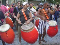 Uruguay men playing drums