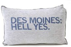 Screen-printed pillow, $15, Raygun. Juice Holiday Gift Guide.