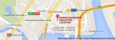Map of MARINA MANDARIN SINGAPORE LOCATION