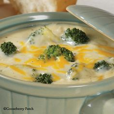 Gooseberry Patch Recipes: Cream of Broccoli Soup from Dinners on a Dime Cookbook