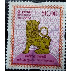 National Lion Emblem, 50 Rupees 2008 used History Of Sri Lanka, Tattoo Symbols, Hindu Art, Rare Coins, Symbolic Tattoos, Antique Shops, Postage Stamps, Buddha, Lion