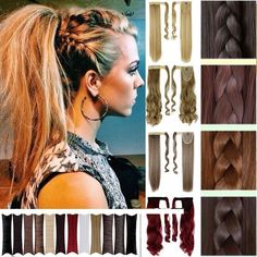 Clip In Ponytail Pony Tail Hair Extensions Clip On Hair Piece as Human Hair Orz | eBay