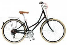 Black Dutch Style 7-Speed City Bike (Single-Speed Fixie Urban Commuter Bicycle) ›› $299 Side View