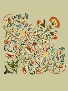 paislay on Behance Paisley Wallpaper, Paisley Art, Flower Wallpaper, Folk Art Flowers, Botanical Flowers, Flower Art, Calligraphy Flowers, Stencil Painting On Walls, Indian Flowers