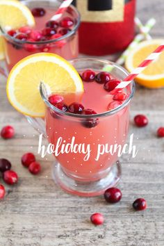 Simple Holiday Punch Recipe - made with pineapple, cranberry and orange juice! Easy to make and such a delicious combination!