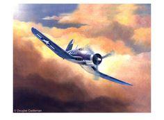 F4U Corsair by Douglas Castleman Fine Art Print
