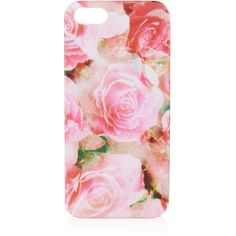 TOPSHOP Pink Rose iPhone 5 Shell ($16) ❤ liked on Polyvore featuring accessories, tech accessories, phone cases, phone, cases, iphone cases, pink, pink iphone case, apple iphone cases and topshop