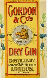 1920s Gin Label
