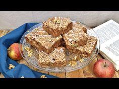 Rezept für Nuss Apfel Brownies mit Zimtbröseln