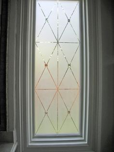 etched glass - window treatment