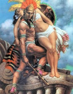 Aztec Warrior and Maiden