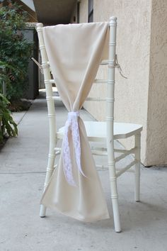 Champagne Chiavari Chair Hoods for weddings and events