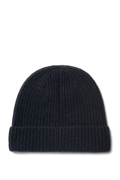 Weekday image 1 of Mon Cashmere Knit Beanie in Black
