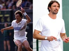 Goran Ivanisevic, 40, of Croatia, is the only person to win the men's singles title at Wimbledon and a wildcard. It's his only Grand Slam title (1988-2004). He also has two bronze Olympic medals. After retiring from tennis, Ivanisevic started playing soccer for a Croatian team.