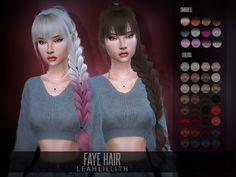 Faye Hair for The Sims 4 Die Sims 4 Pc, The Sims 4 Bebes, Sims 4 Black Hair, The Sims 4 Cabelos, Pelo Sims, 4 Braids, Sims 4 Cc Packs, The Sims 4 Download, Sims Hair