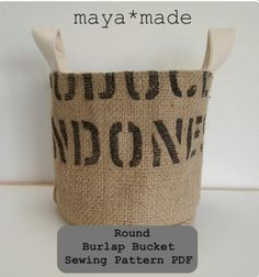 pdf coffee sack bucket