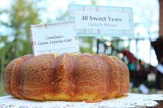 Grandma's Lemon Supreme Cake tops it off!