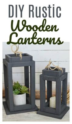 Full Tutorial for how to build Wooden Lanterns using a Kreg Jig Inside: Brighten up your Decor with DIY Wooden Lanterns in just a few easy steps. These work both indoors and outdoors and are a great beginner woodworking project. Wooden Crafts, Wooden Diy, Faux Brick Walls, Wooden Lanterns, Beginner Woodworking Projects, Woodworking Joints, Woodworking Furniture, Diy Outdoor Furniture, Outdoor Decor