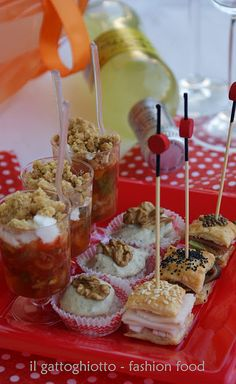 Love the mini sandwiches!  Love the presentation in muffin cups.