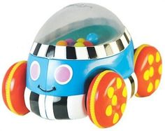 Sassy Poppin' Push Car by Sassy Inc. $20.25. Learning cause and effect though play is fun! Pull back and release or push forward to watch and hear popping beads. Car is just the right size for child's small hands. Encourages fine and gross motor development while teaching cause and effect.