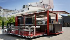 Shipping Container Turned Into Restaurant