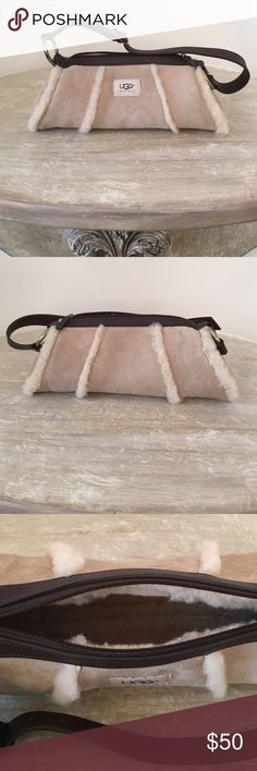 Ugg Shearling Bag 13 in wide x 5 1/2 in tall. This bag is in very good condition. Dust bag included. Please no trades. UGG Bags Mini Bags