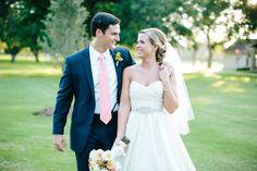 James + Caroline. Texas Wedding. Coral & Yellow. The Orchard in Azle. Wtoo Camilla