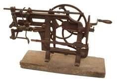 "A ""RIVAL"" COMMERCIAL APPLE PARER, No. 2, patented June 25, 1889. This oversize parer is of the type that would have been used in a late Nineteenth Century commercial apple processing facility."