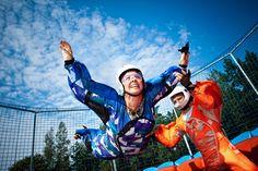Body flight with aerodium.