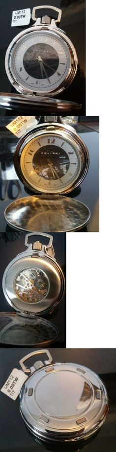 Other Pocket Watches 398: New Colibri Mechanical Movement Skeleton Pocket Watch 17 Jewell Movement BUY IT NOW ONLY: $90.0