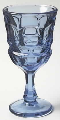 Fostoria Argus - Blue Crystal Stemware Pattern