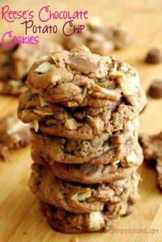 Reese's Chocolate Potato Chip Cookies