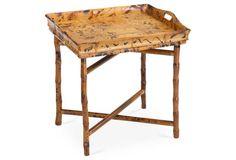 Lena Side Tray Table, Tortoise